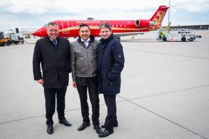 Von links nach rechts: Internationalabteilungsleiter Zeitschrift Berliner Telegraph, Redakteur Zeitschrift MOST - Mikhail Vachtchenko, Heiko Waber - Geschäftsleitung HDI Global SE