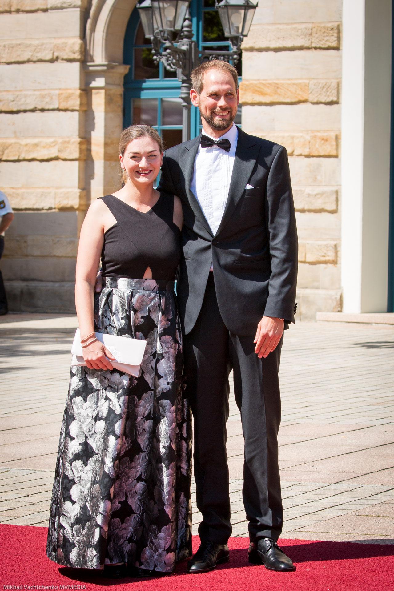 Министр цифровых технологий Баварии Джудит  Герлах с мужем Тобиасом Нитчем