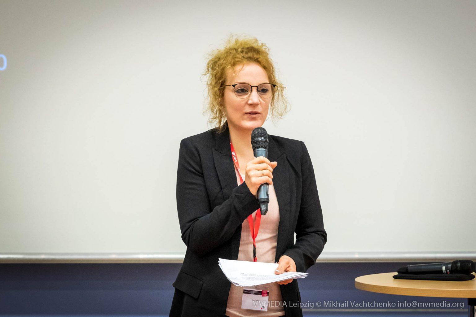 dju-Bundesvorsitzende Tina Groll