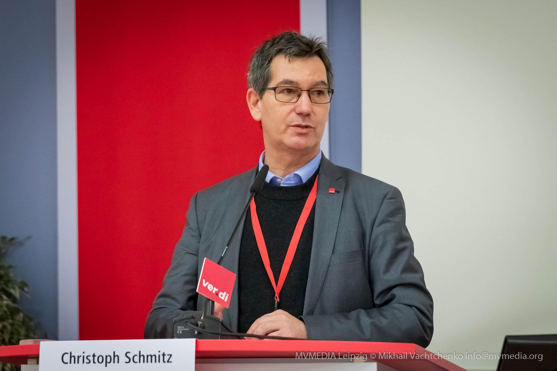 Christoph Schmitz, im ver.di-Bundesvorstand für Medien zuständig